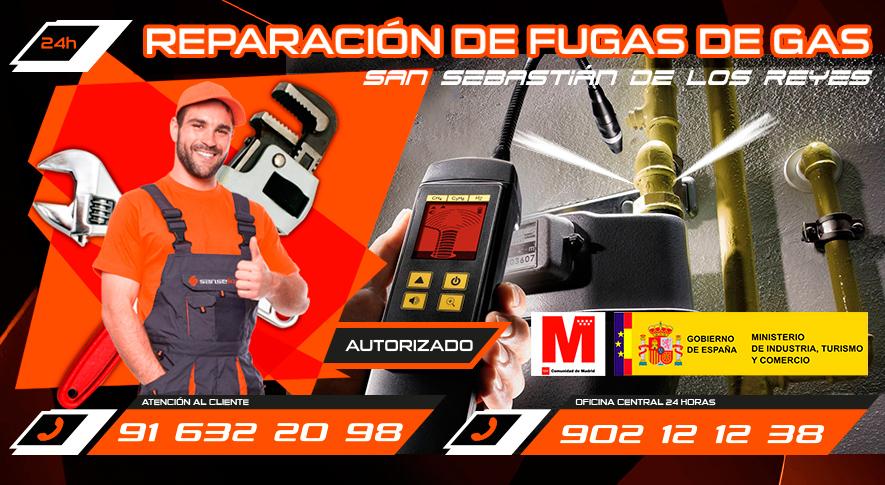 reparación de fugas de gas en San Sebastián de los Reyes