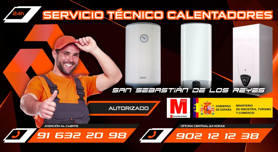 Servicio técnico calentadores en San Sebastián de los Reyes