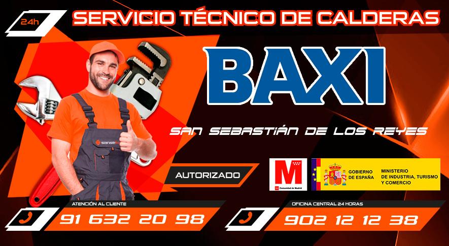 Servicio Técnico Calderas Baxi en San Sebastián de los Reyes
