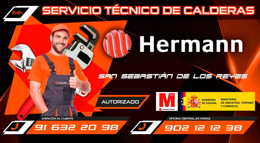 servicio técnico calderas Hermann en San Sebastián de los Reyes