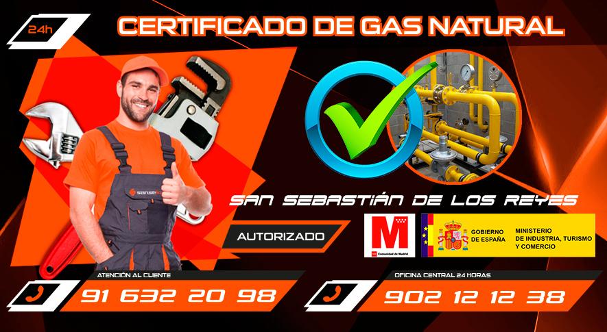 Certificado de gas natural en San Sebastián de los Reyes