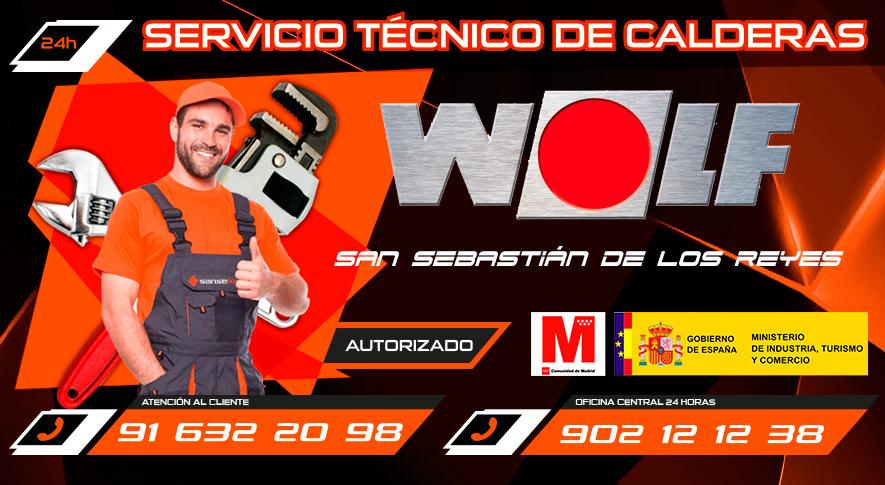 servicio técnico calderas Wolf en San Sebastián de los Reyes