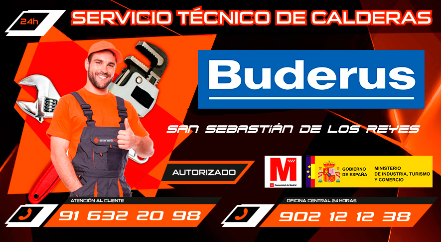 servicio técnico calderas Buderus en San Sebastián de los Reyes